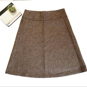Liz Claiborne brown A-line stretch skirt 12